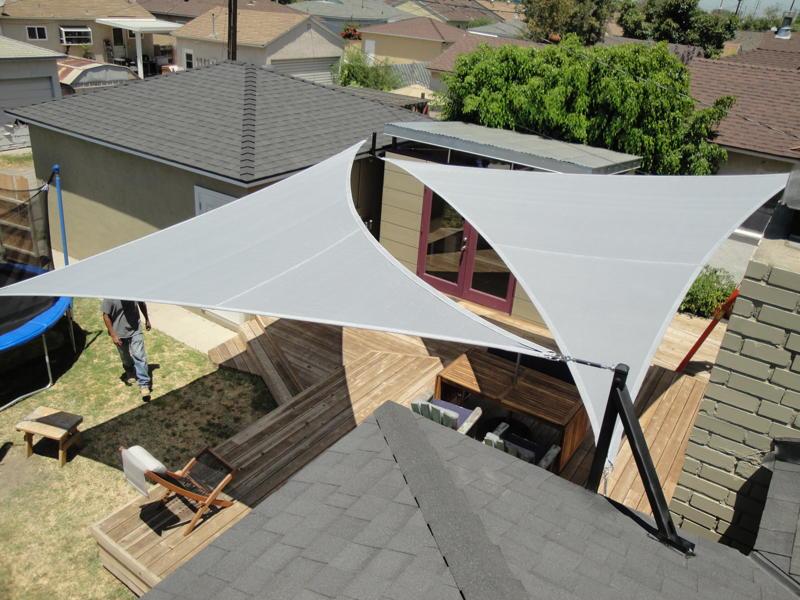 Garden shade sails shade sails los angeles california for Shadesails com
