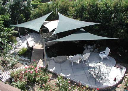 shade sails. Furniture and the barbeque It is better to use waterproof garden furniture during rain parties. If you do not have such furniture ... & sail shades | Shade sails Los Angeles California and Las Vegas area.