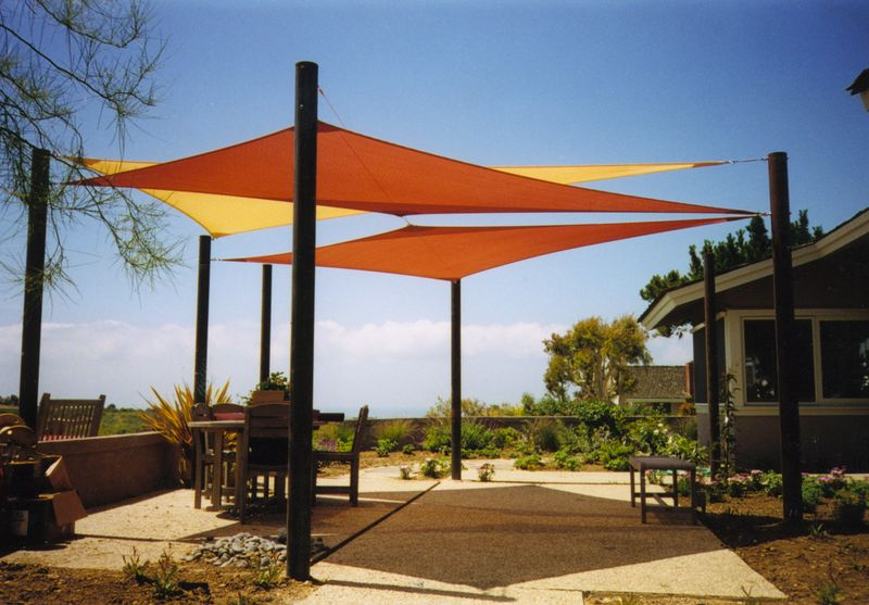 Shade sails shade sails los angeles california and las for Sun shade structure